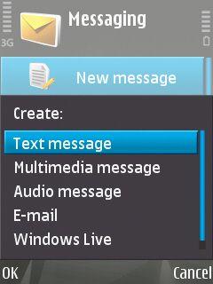 N81 har en rekke meldingsmuligheter. Windows Live må installeres på egnehånd.