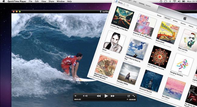 Quick Time sniker seg foran iTunes, men begge Apple-avspillerne gruser motstanderne.