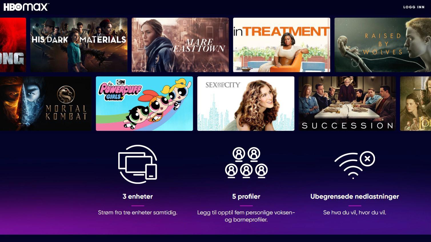 HBO Max lansert i Norge