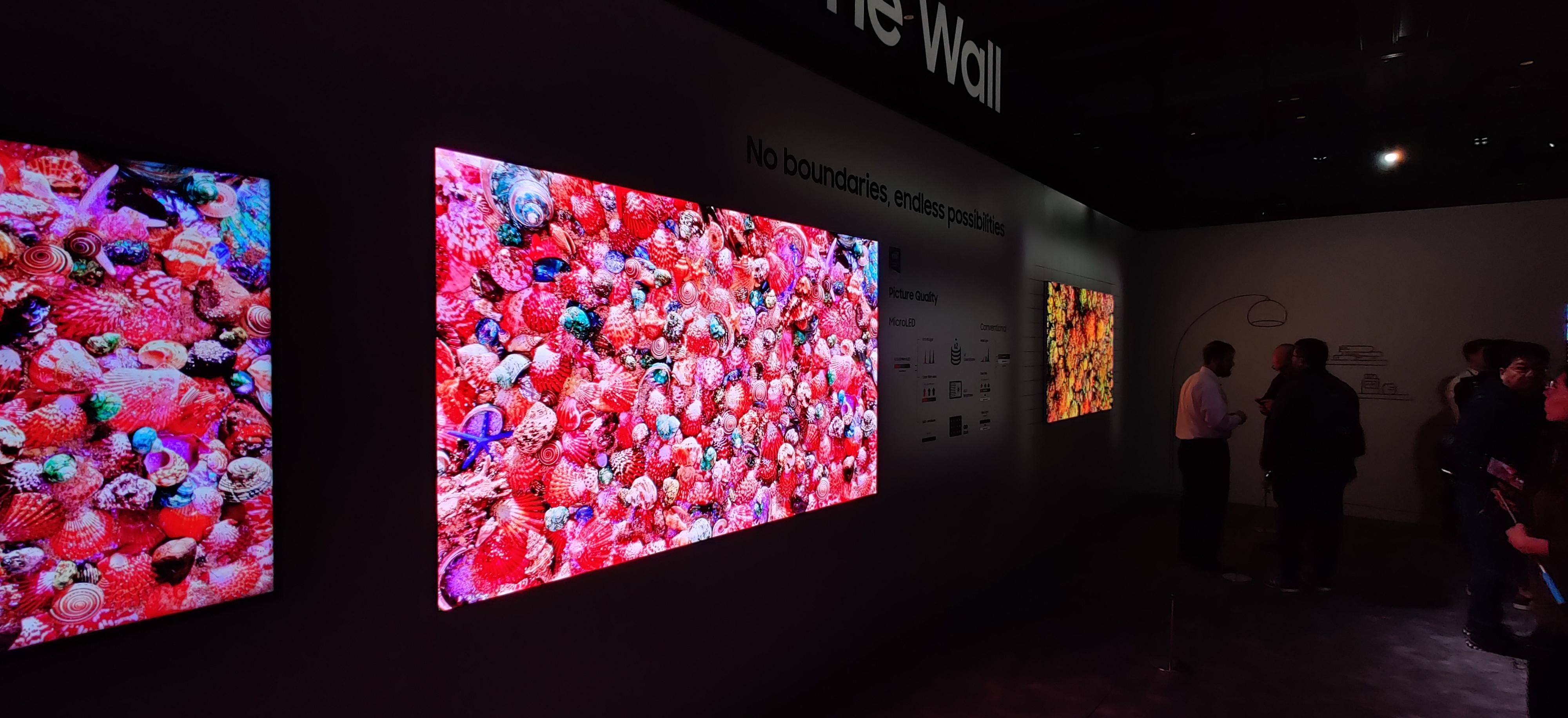 The Wall-teknologien blir brukt i flere størrelser. Her på 110 tommer. Og billedkvaliteten er rett og slett imponerende.