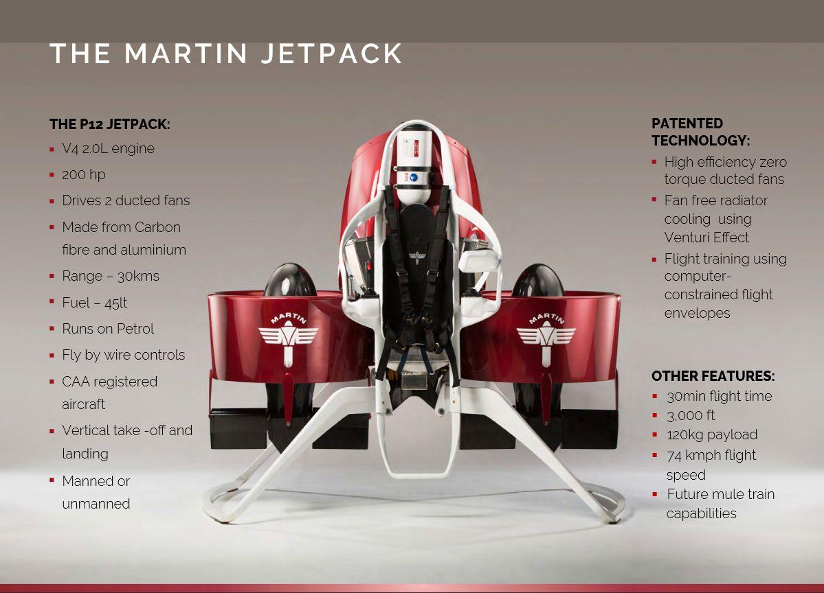 Spesifikasjoner. Foto: Martin Aircraft