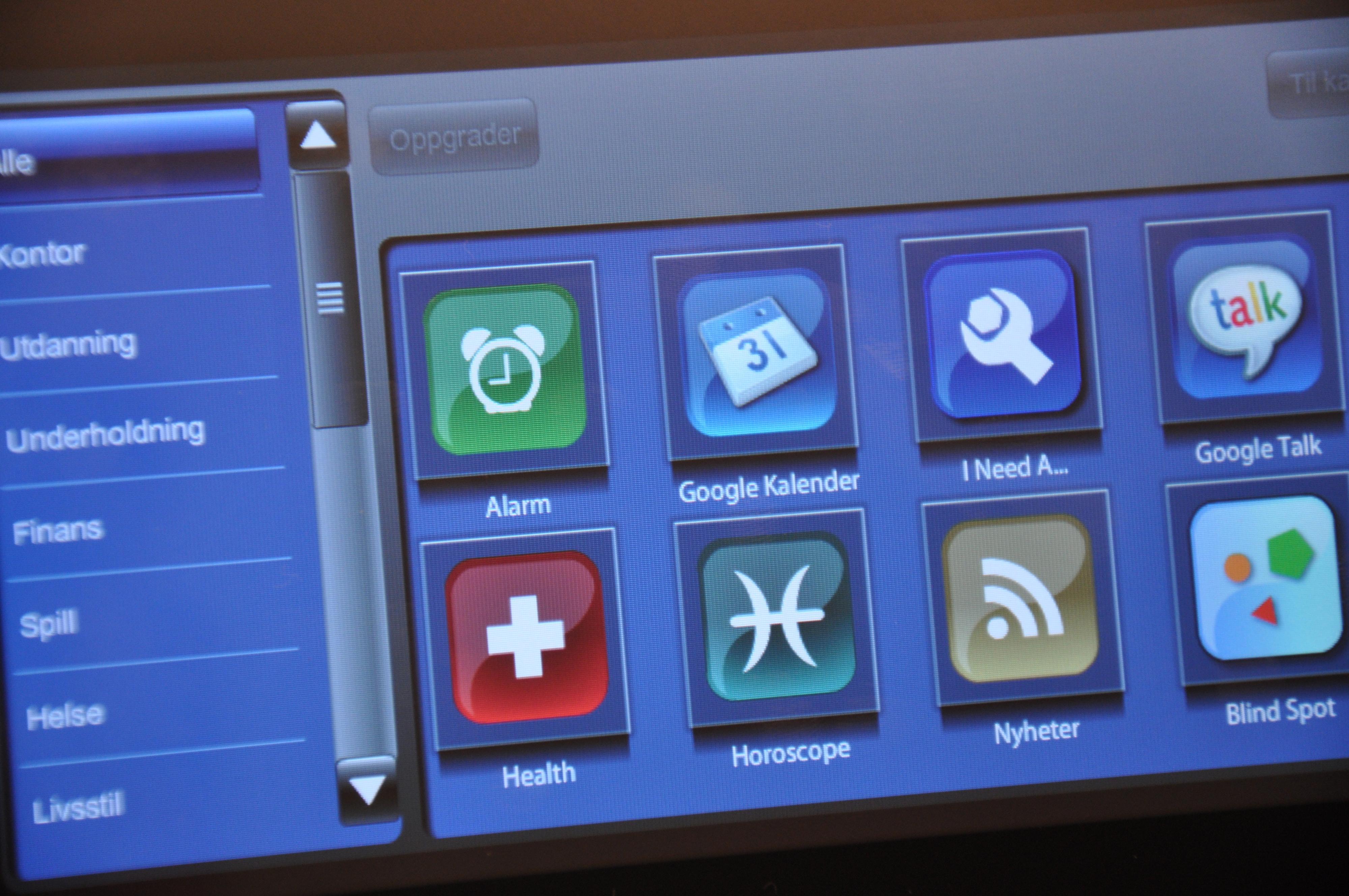 Flere applikasjoner kan lastes ned.