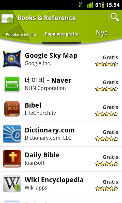 På Google Play stemmer brukerne på hvor bra programmene er, slik at det er enkelt å styre unna dårlige programmer.