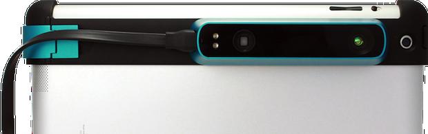 Slik ser den ut når den er festet på en vanlig Apple iPad.Foto: Occipital