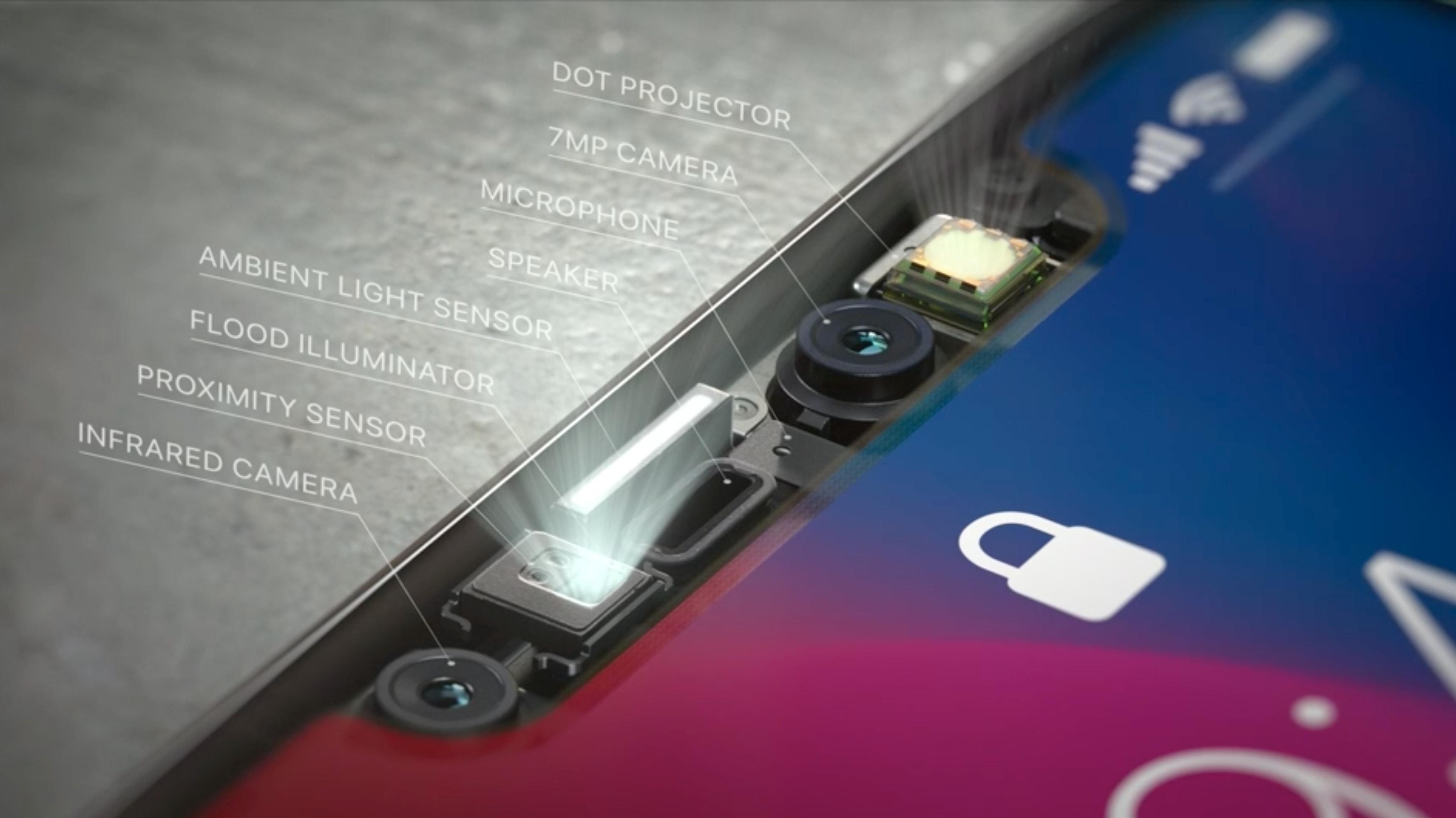 Google legger til rette for at flere Android-telefoner kan bygges med små skjermlepper som hos iPhone X.Bilde: Apple/Skjermdump