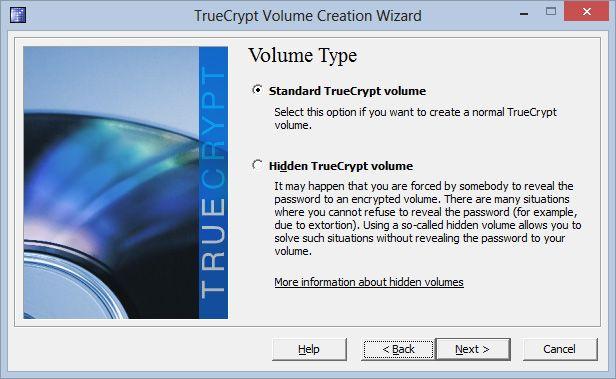 Hvis du skal sikre dokumenter mot tilfeldig tyveri er et standard-volum mer enn godt nok. Formålet med skjulte volumer er å sikre at de krypterte filene forblir sikre dersom noen tvinger deg til å røpe passordet.