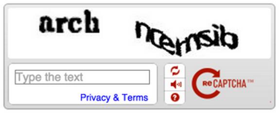 Slik ser den gamle reCAPTCHA-løsningen ut. Den nye har fått navnet No CAPTCHA reCAPTCHA.Foto: Google
