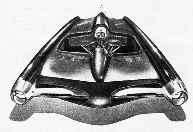 Et konseptbilde av en svevebil.