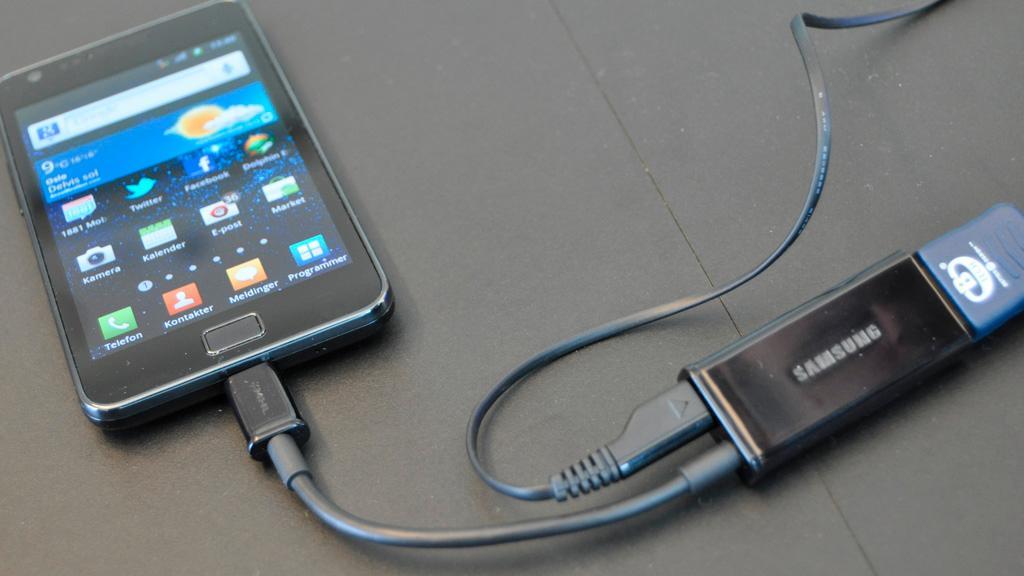 For å få HDMI-overgangen til å virke må du koble strøm til samtidig.