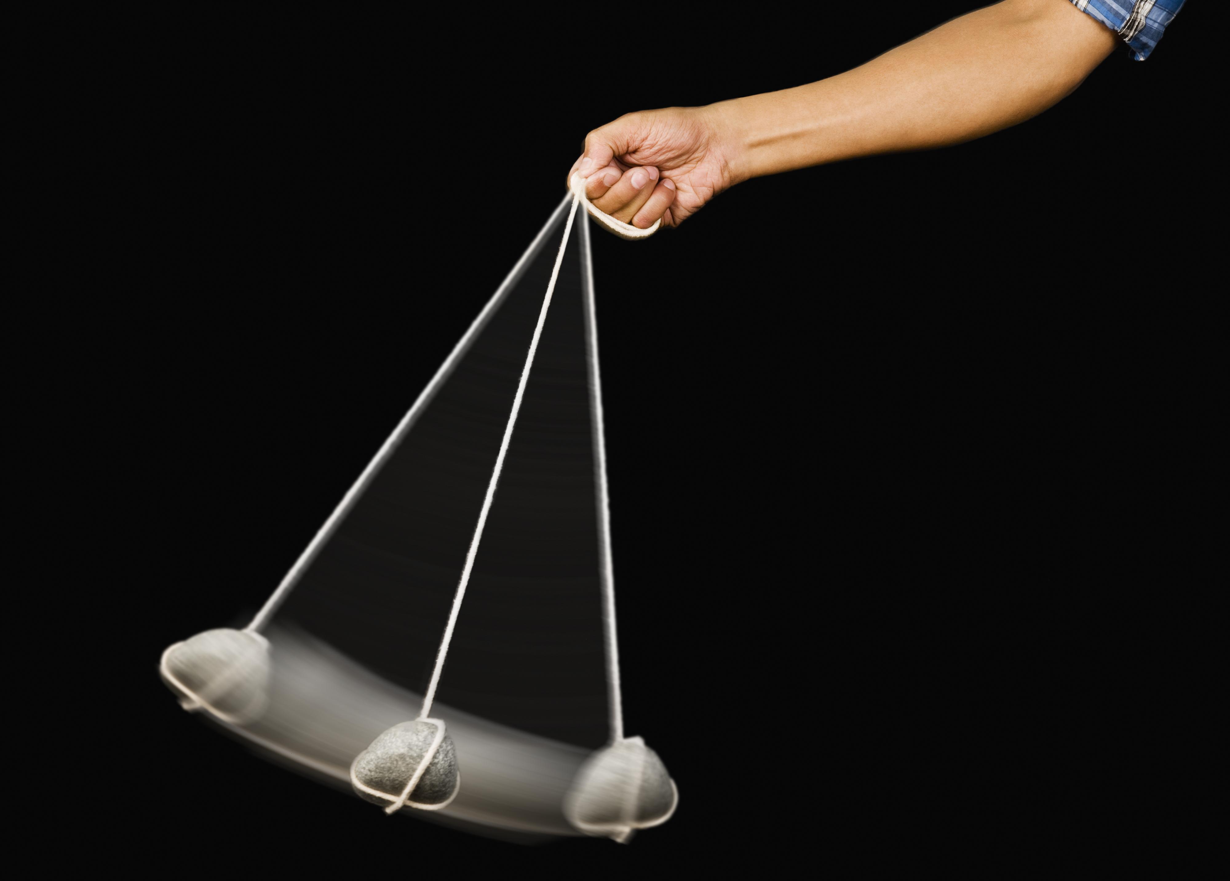 Et akselerometer er på sett og vis den digitale varianten av en pendel. Brikkens viktigste funksjoner er å måle g-krefter, enten fra tyngdekraften eller akselerasjon. Den er blant annet ansvarlig for å orientere skjermbildet riktig vei.Foto: Shutterstock.com