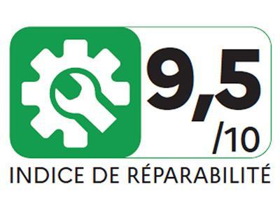 Slik ser logoen Frankrike skal bruke for å vise hvor lett det er å reparere et produkt.