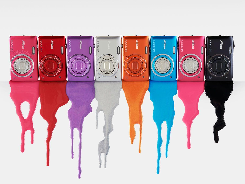 Coolpix S3500 kommer i åtte forskjellige farger.Foto: Nikon