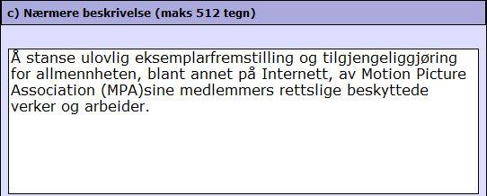 Et del av meldingen advokatbyrået Simonsen sendte Datatilsynet.Skjermdump fra Datatilsynet