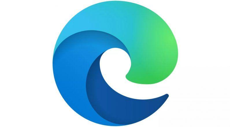 Slik ser den nye Edge-logoen ut.