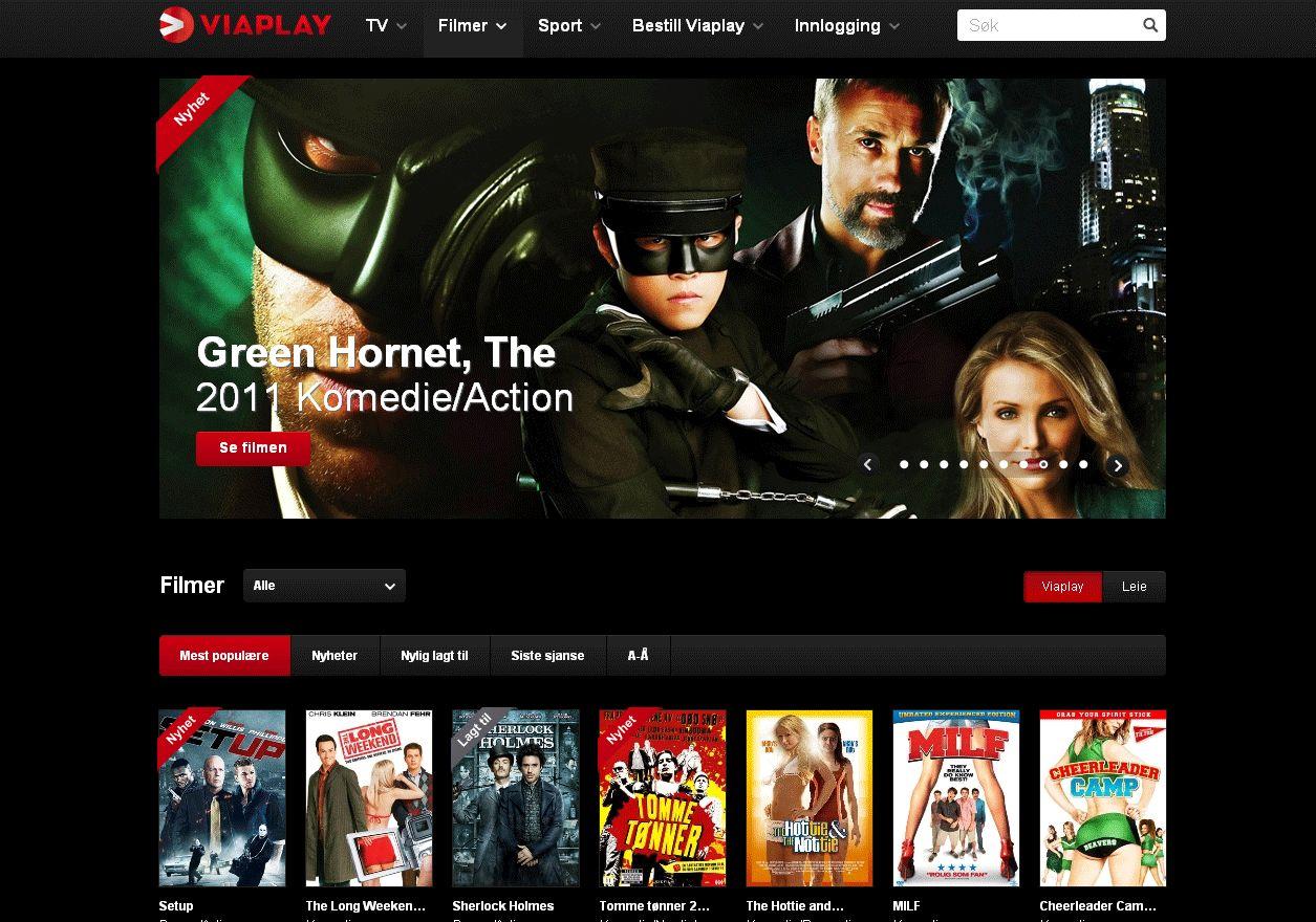 Viasats nett-TV, Viaplay, konkurrerer sterkt med Netflix.