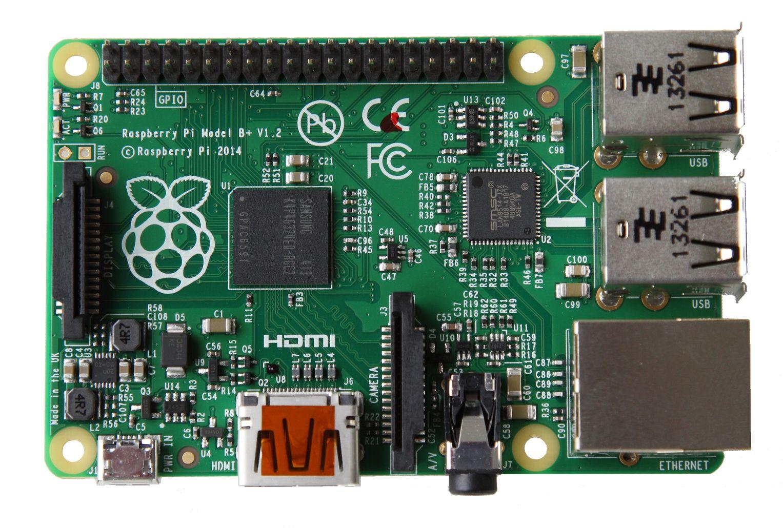 Raspberry Pi Model B+ har blitt ryddigere.Foto: Raspberry Pi Foundation