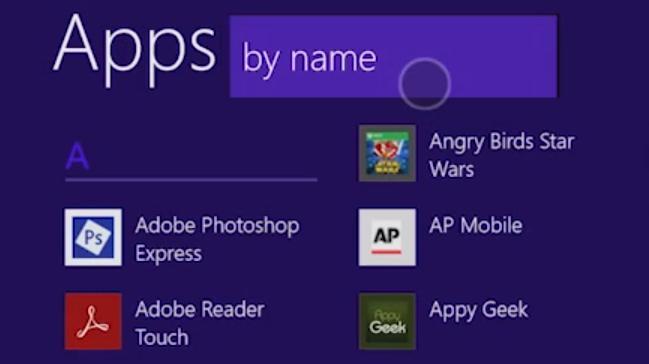 Applikasjonslisten i Windows 8.1.Foto: Microsoft
