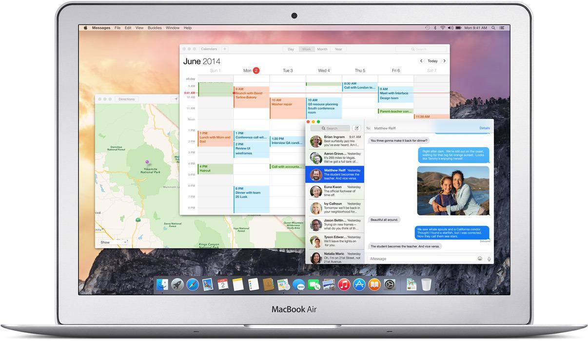 OS X Yosemite.Foto: Apple
