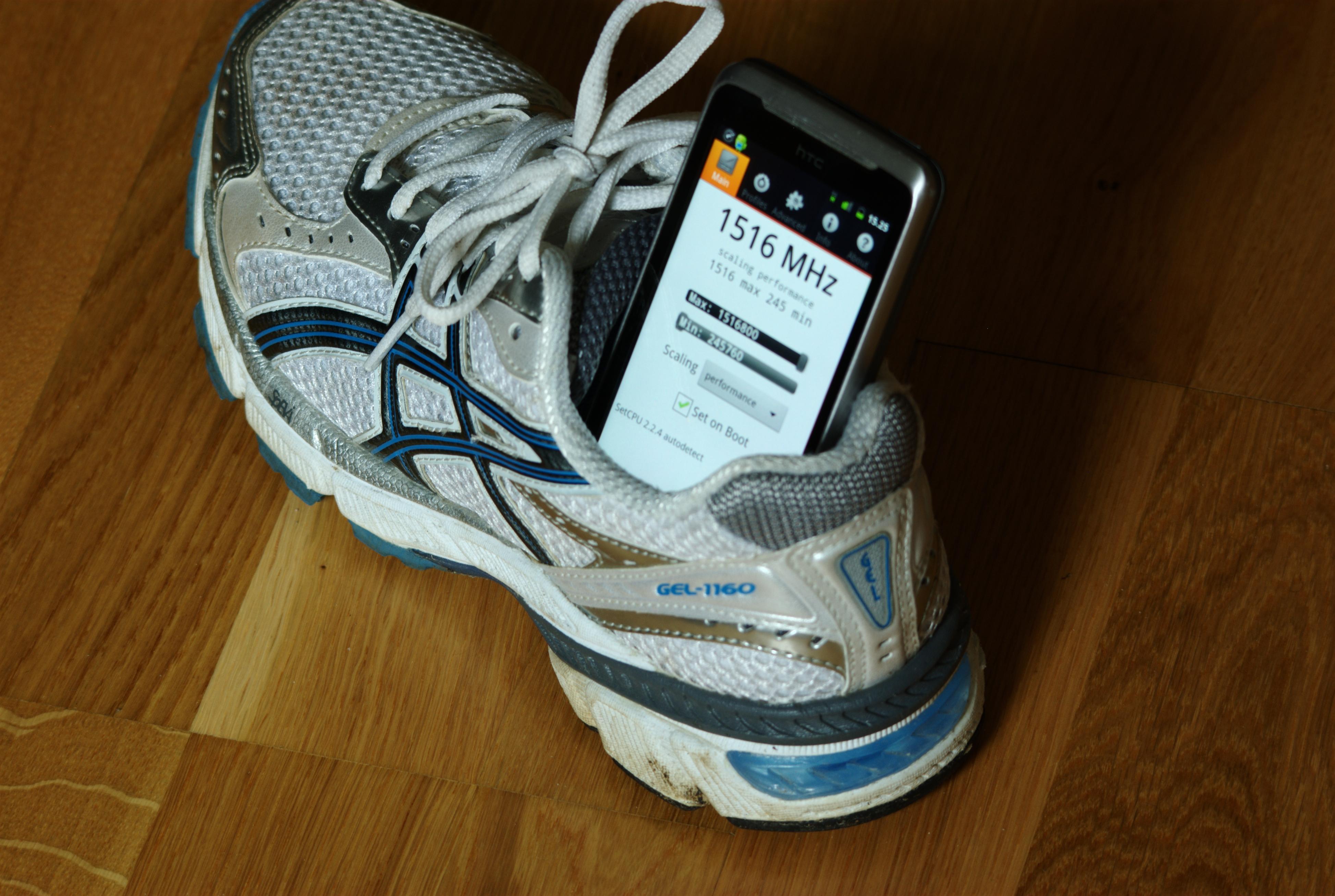 Selv en god, gammel HTC Desire Z kan kjøre på over 1500 MHz. (Foto: Einar Eriksen).