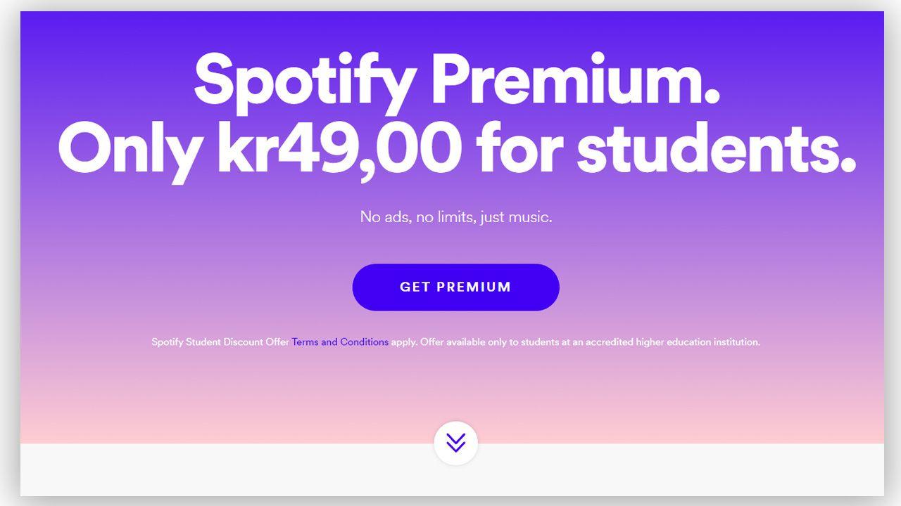 Spotify har lansert studentabonnementet sitt også i Norge.
