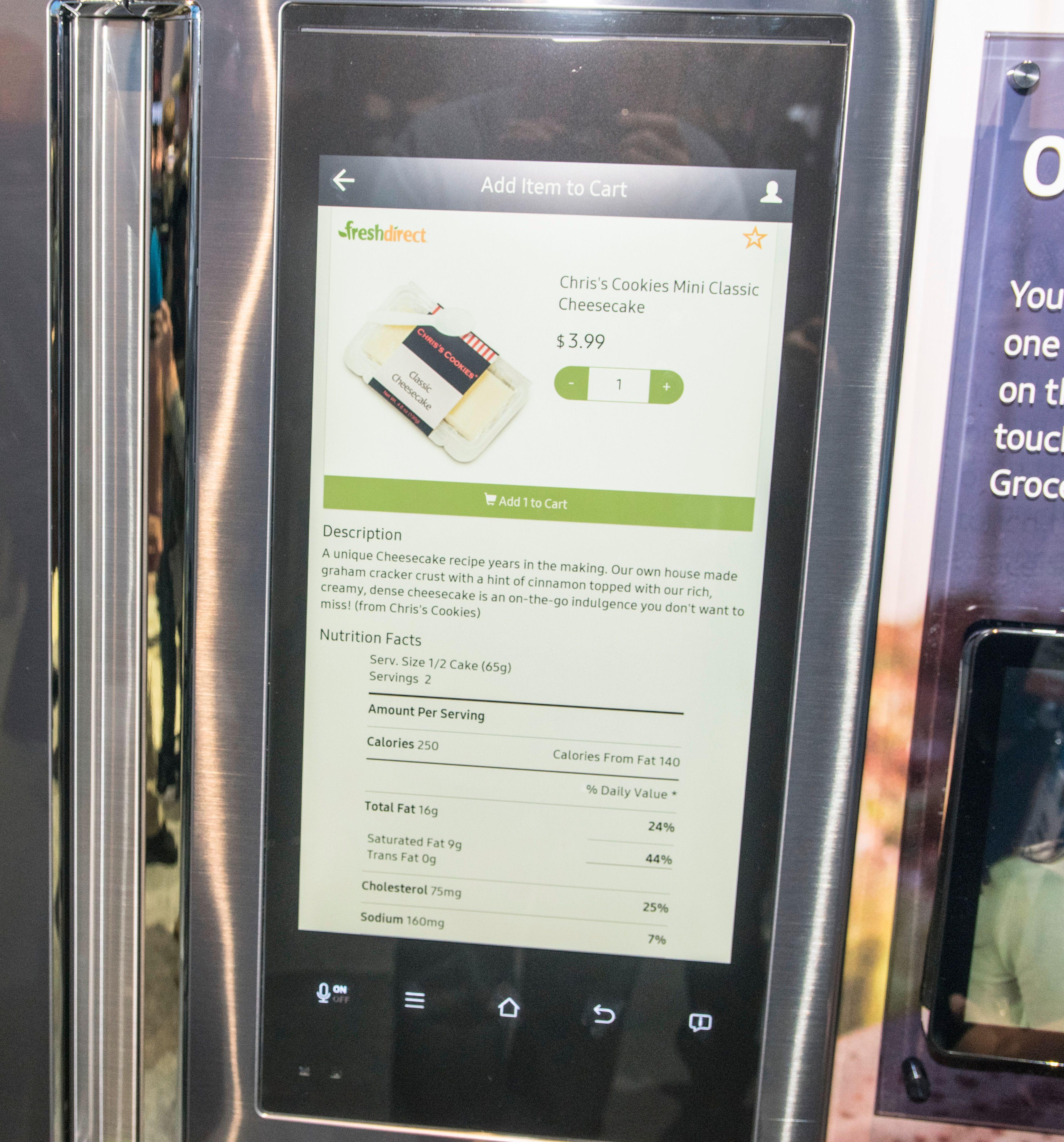 Her i USA er det mulig å handle direkte fra kjøleskapet.