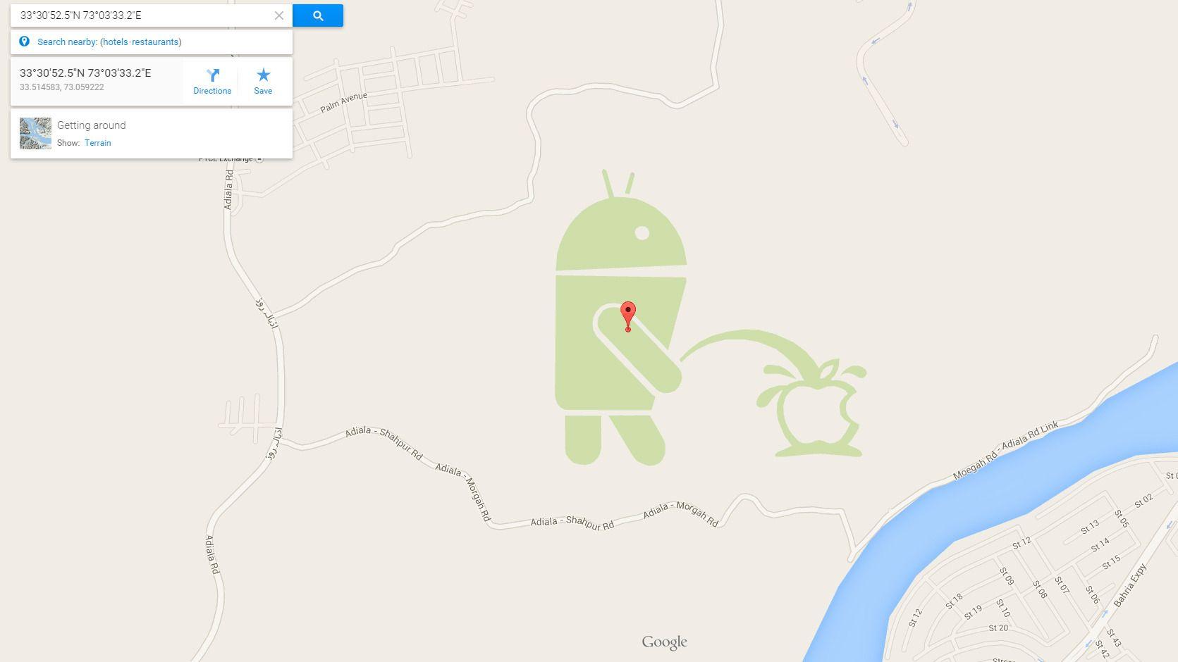 Fin... park? Foto: Google Maps