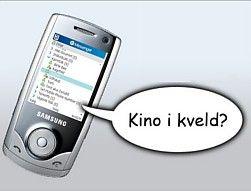 Det er ingen problem å bruke MSN rett på mobilen. (Illustrasjon: Einar Eriksen)