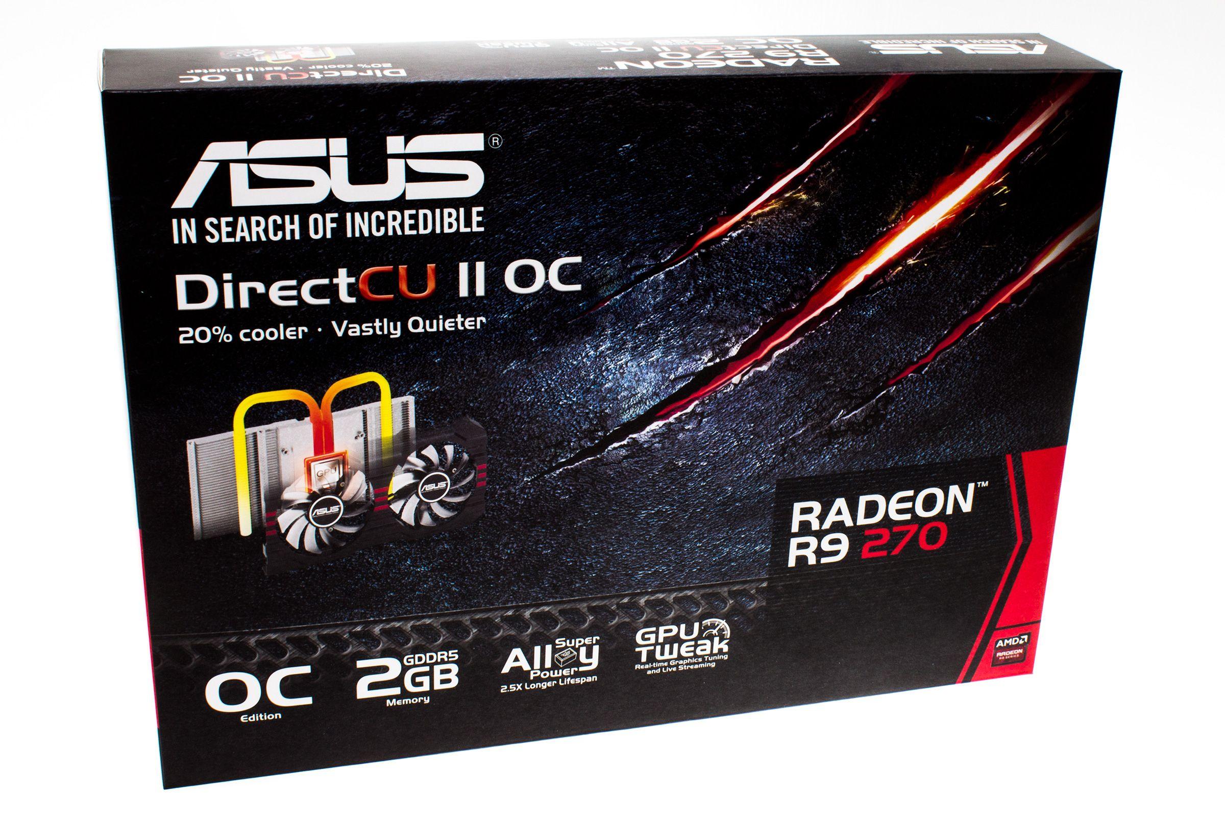 Asus Radeon R9 270 DirectCU II OC: Produkteske.Foto: Varg Aamo, Hardware.no