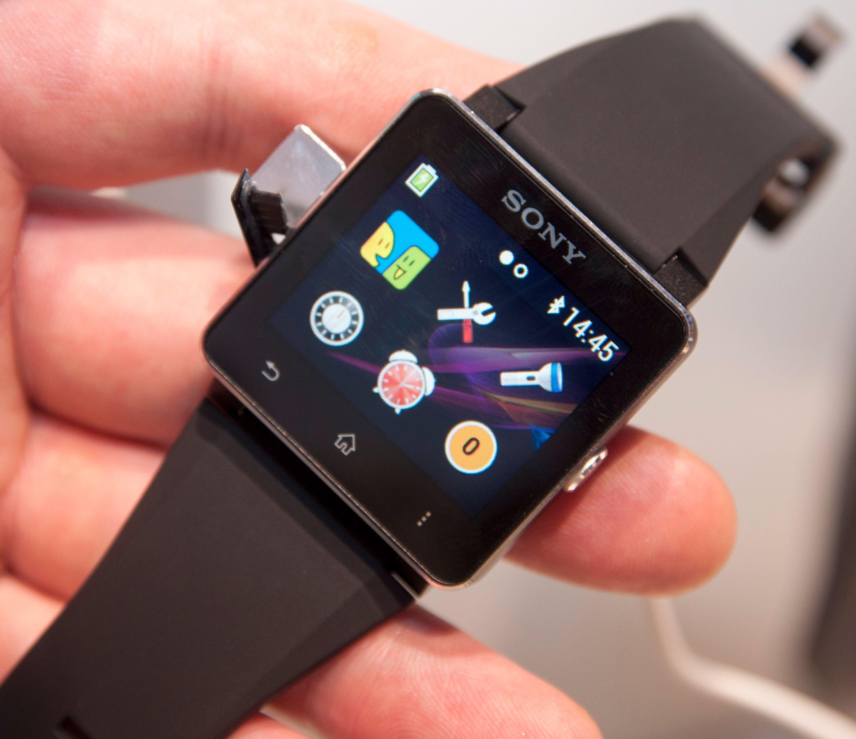 Sony SmartWatch 2 er den nyeste generasjonen smart klokke fra Sony. Den kommer i salg om kort tid.Foto: Finn Jarle Kvalheim, Amobil.no