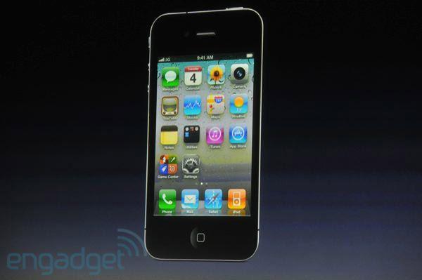 Slik ser iPhone 4S ut (Bildet er hentet fra Engadget.)