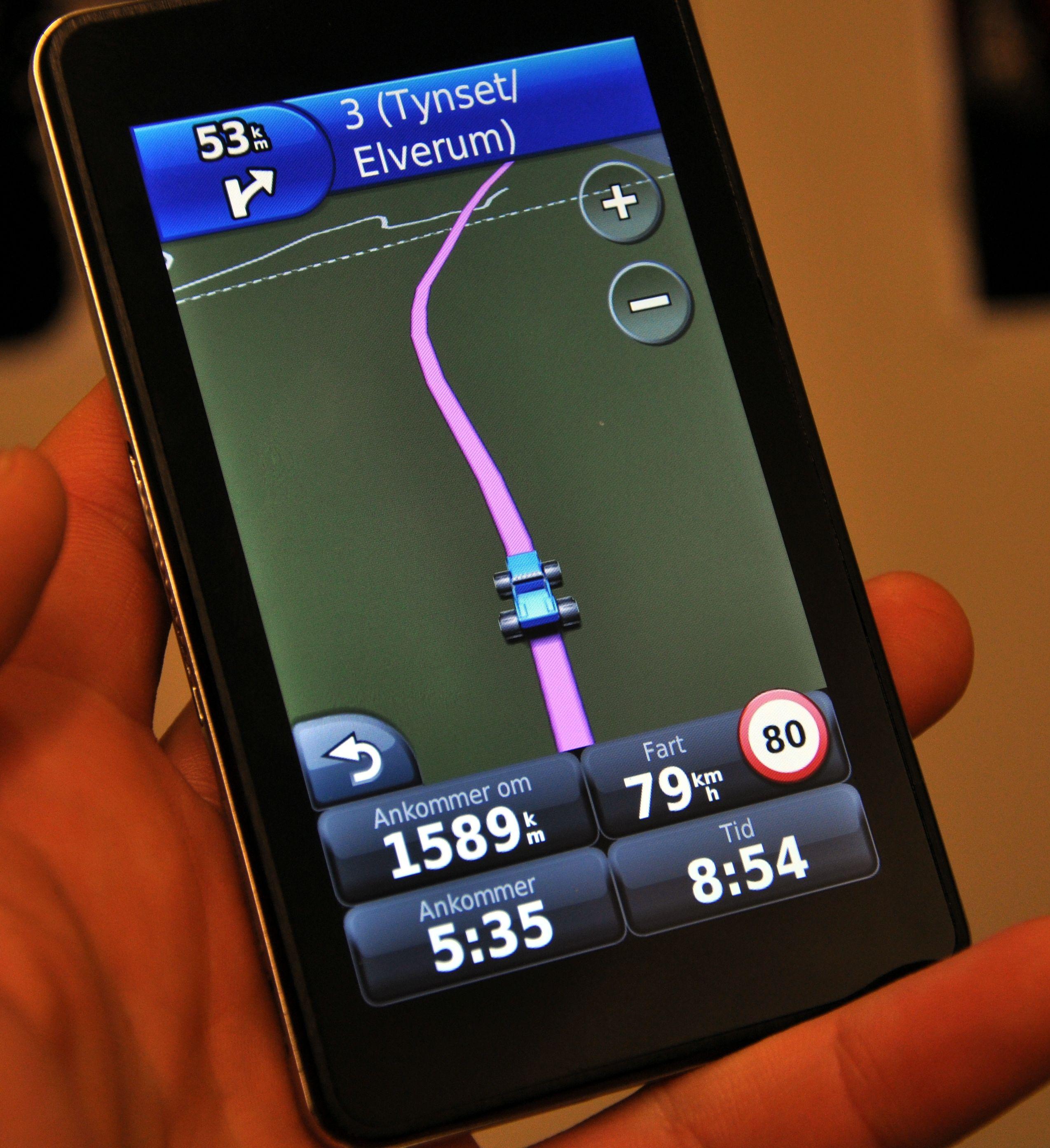 GPS-en kan også brukes vertikalt.