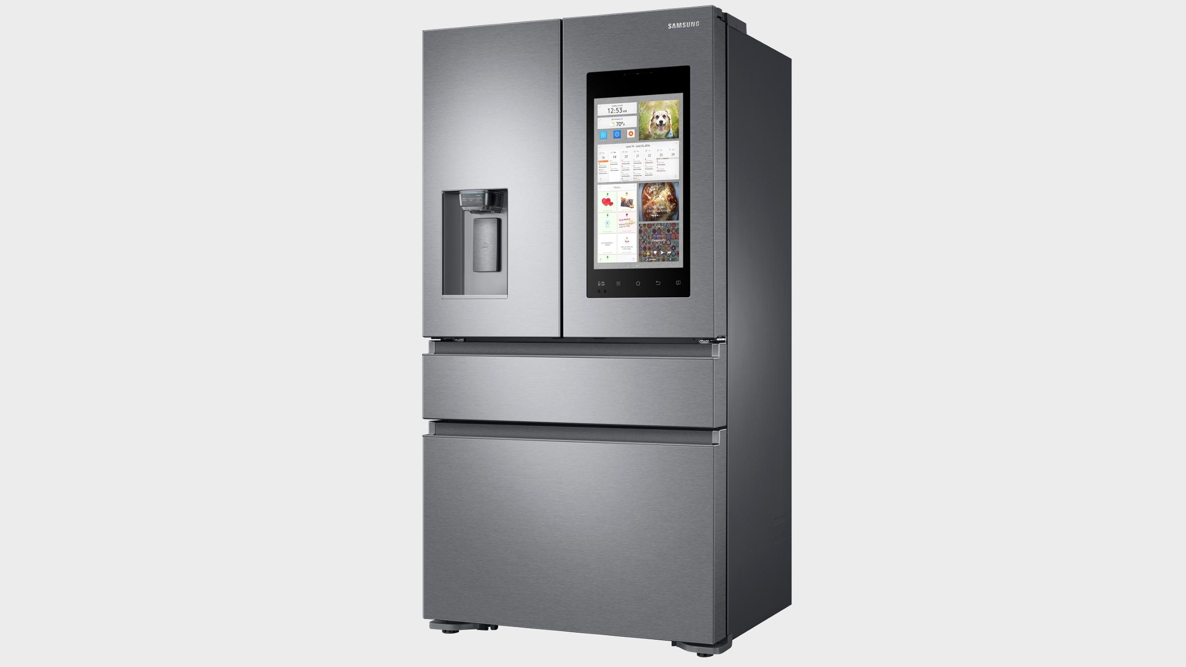 Samsung lanserer nye smartkjøleskap med digre berøringsskjermer