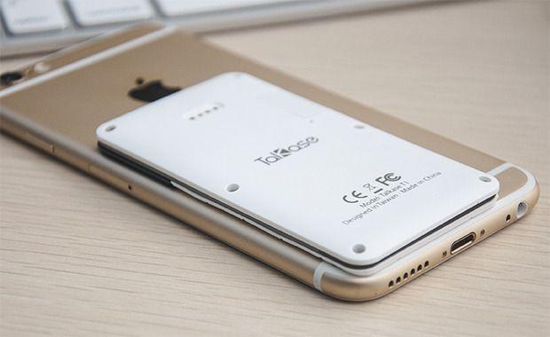 I forhold til en iPhone 6 er ikke Talkase så stor.Foto: WirelessMe