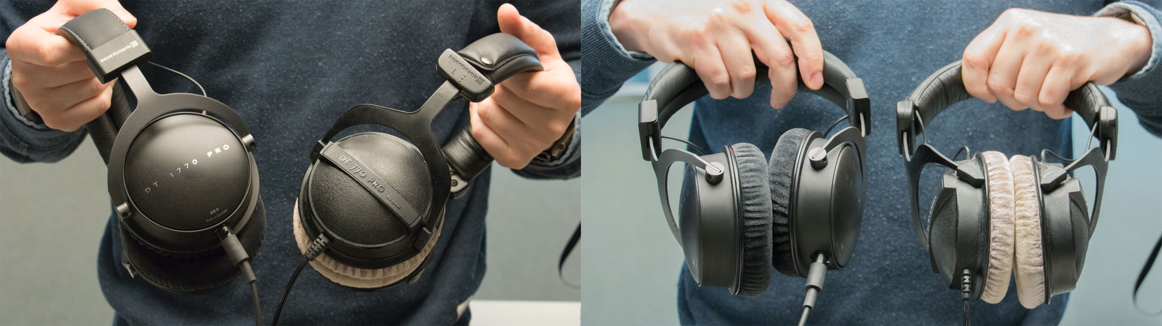 Her kan du se forskjellen mellom DT 1770 Pro (Venstre) og gode gamle DT 770 Pro (høyre)