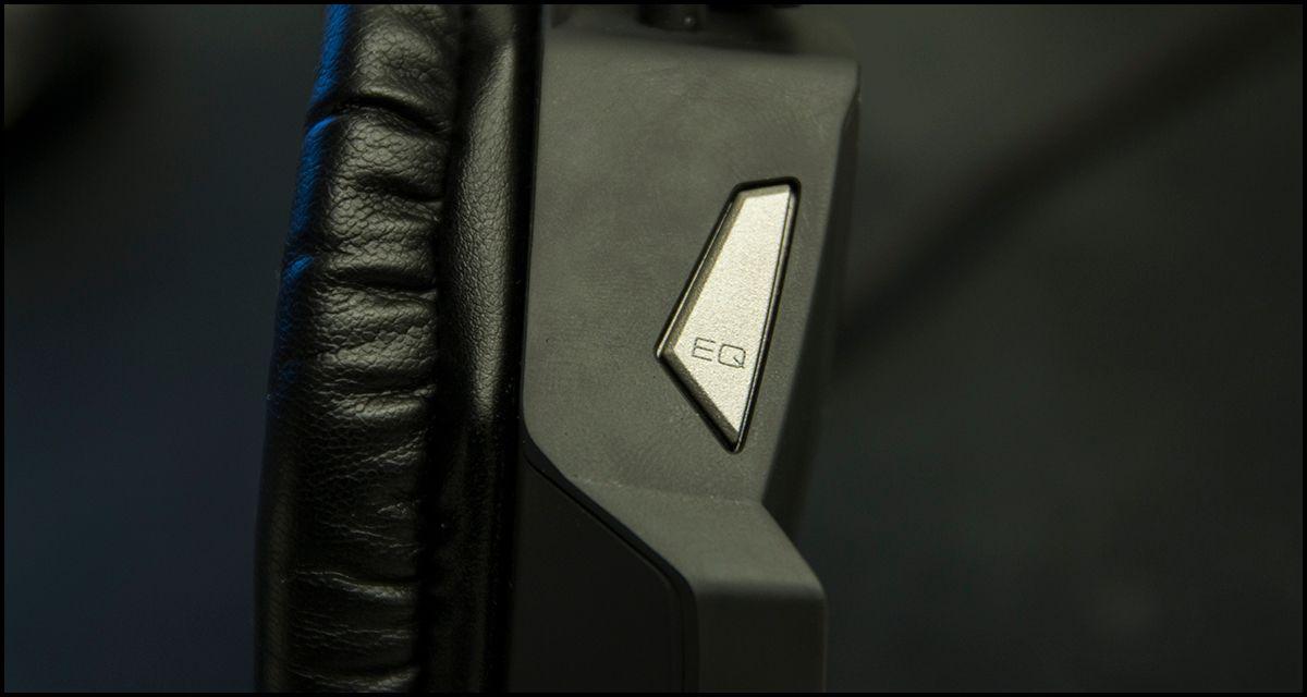 EQ-knappen lar deg bytte mellom tre ulike lydmodier.Foto: Niklas Plikk, Hardware.no