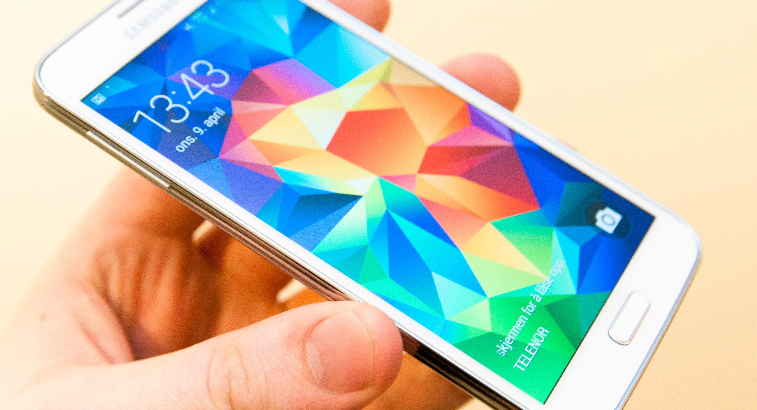 Samsung Galaxy S5 har hastighetsrekorden i testen.Foto: Finn Jarle Kvalheim, Amobil.no