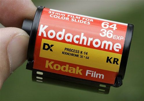 Kodachrome, that gives us those nice, bright colors.