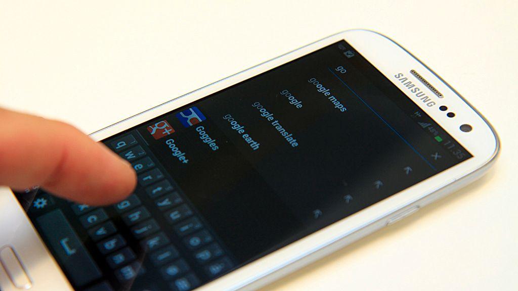 Galaxy S III-søkefunksjon forsvinner ikke
