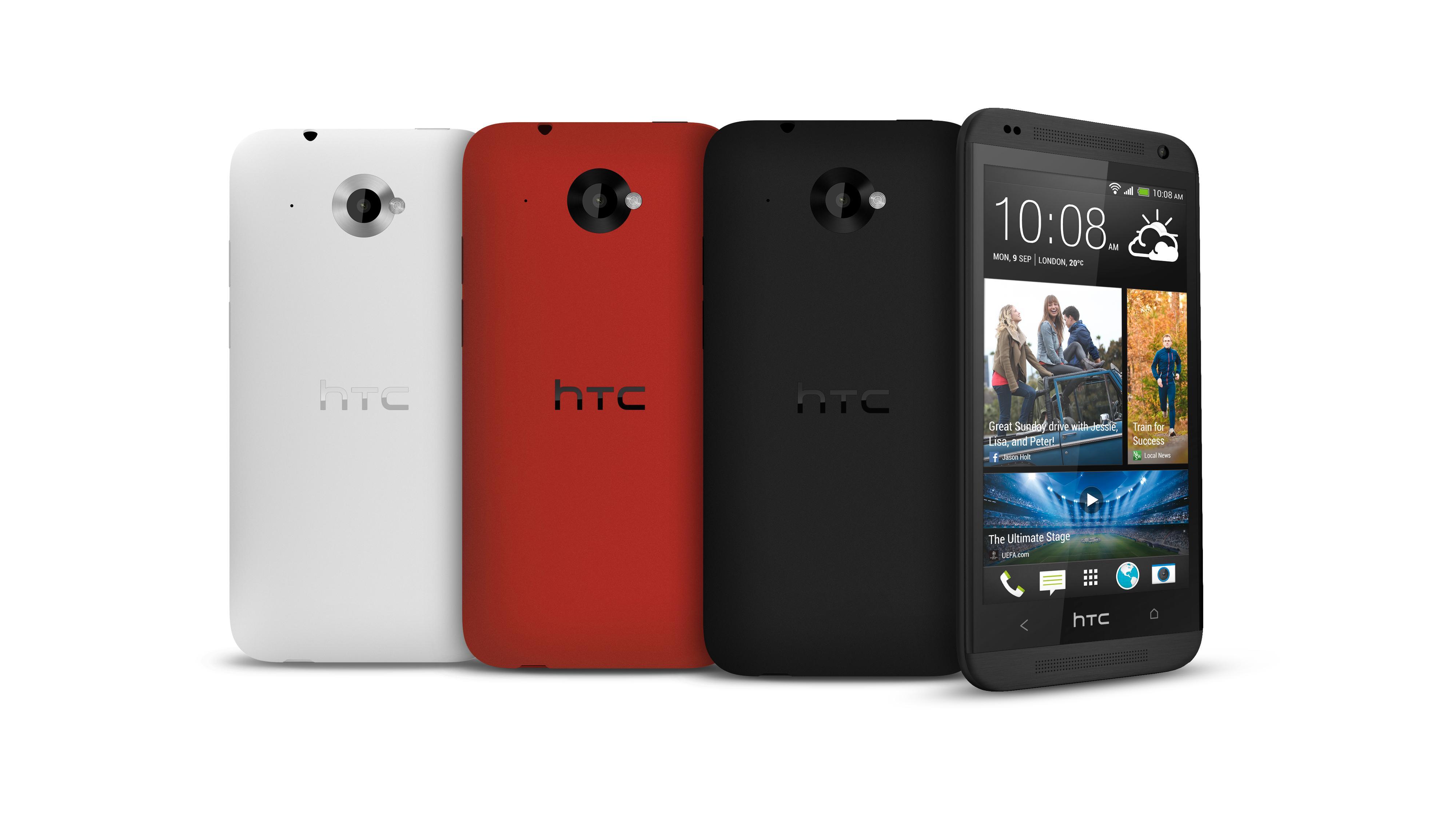 På forsiden deler Desire 601 design med HTC One. Baksiden likner mer på den vi kjenner fra One X.Foto: HTC