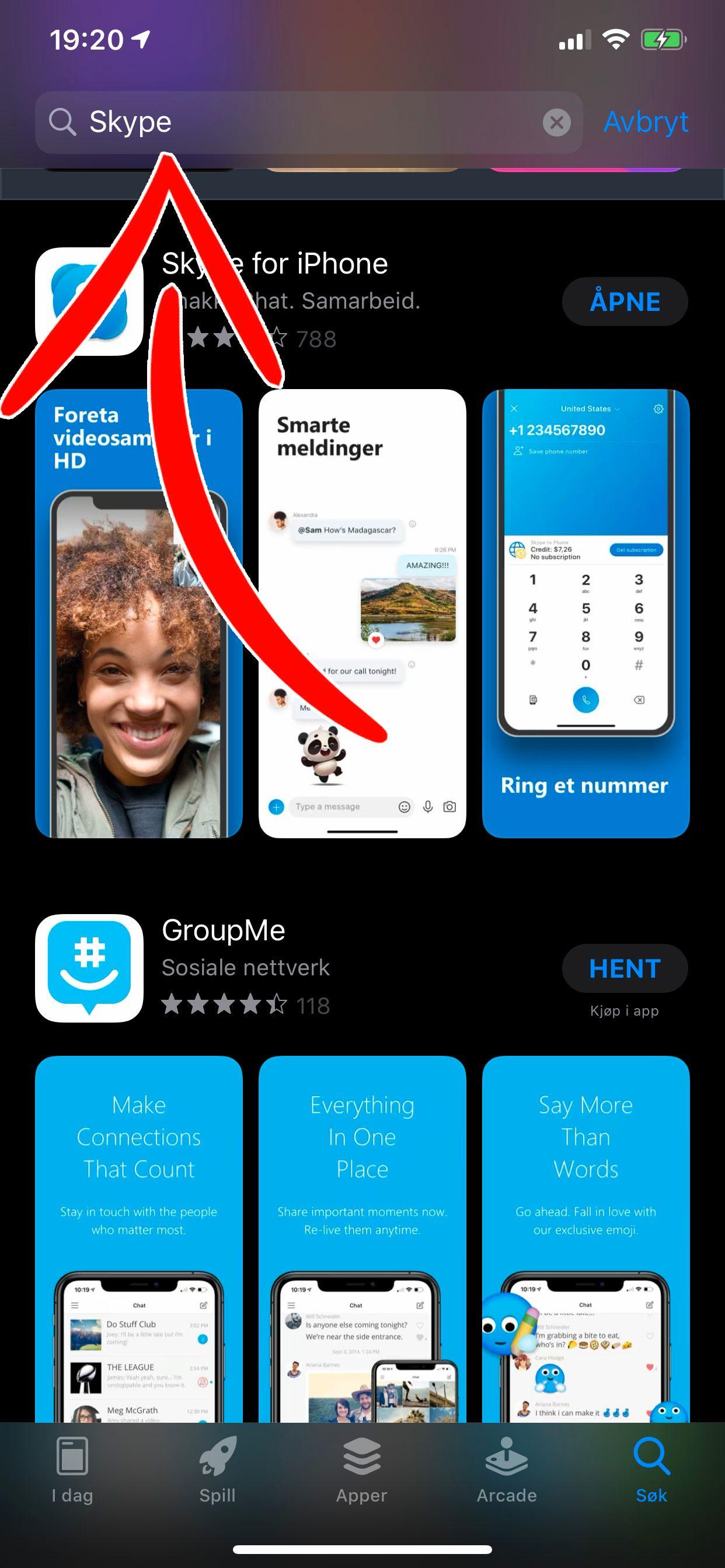 iPhoner leveres uten ekstra apper utover Apples egne i menyene. Da må du laste ned i App Store.