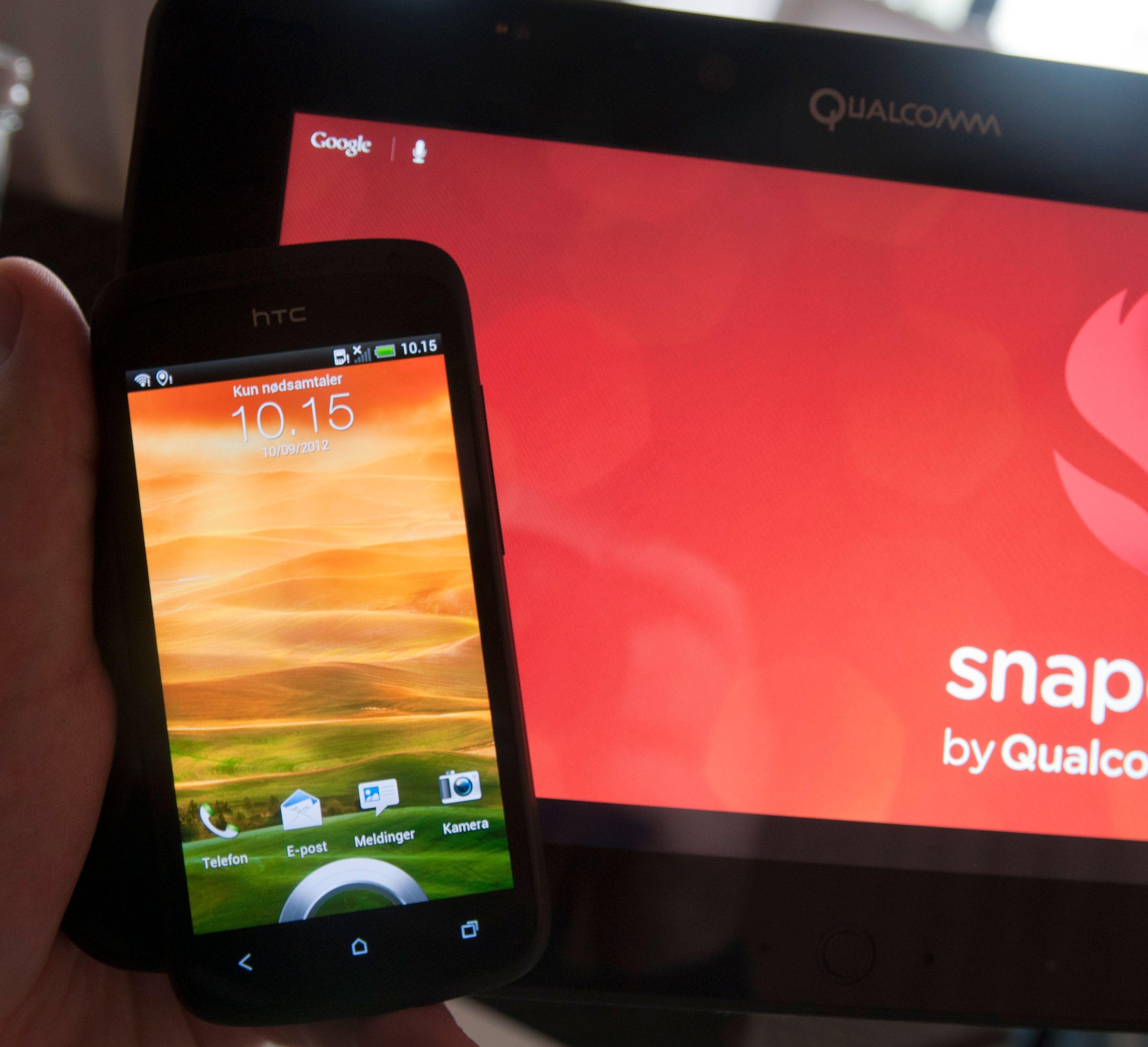 6 x Krait! HTCs One S er ett av produktene som kjører dagens Snapdragon S4 med to kjerner. Den har svakere grafikkdel enn den nye systembrikken i Qualcomms referansenettbrett.