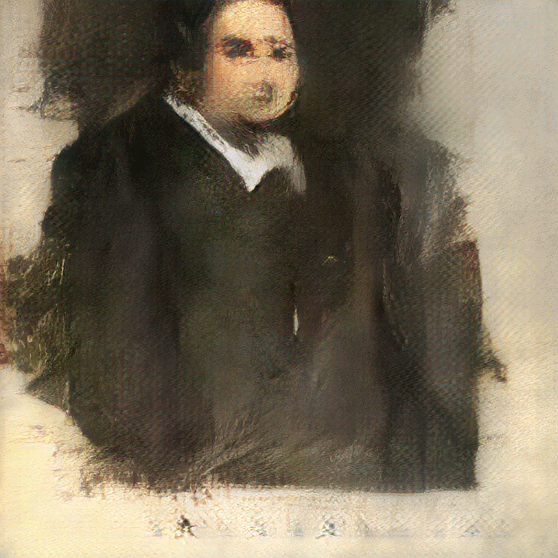 Edmond De Belamy, verdens første portrett laget av kunstig intelligens.