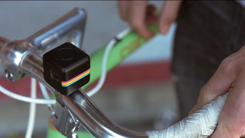 Kameraet er ment for aktive brukere, som for eksempel syklister.Foto: Polaroid/Skjermdump fra Youtube