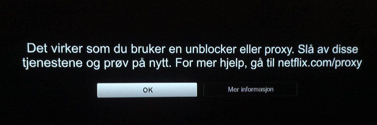 Hvis du får denne, har du «feil» VPN. Bilde: Niklas Plikk, Tek.no