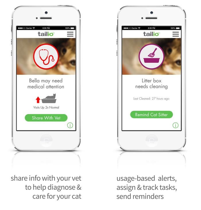 Det følger med en egen app. Her kan du få informasjon om katten, og varsle eventuelle kattapassere om diverse behov. Appen finnes til både Android og iOS.Foto: Pet Wireless