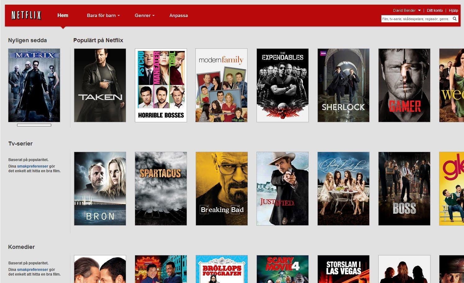 Netflix Sverige.Foto: Netflix