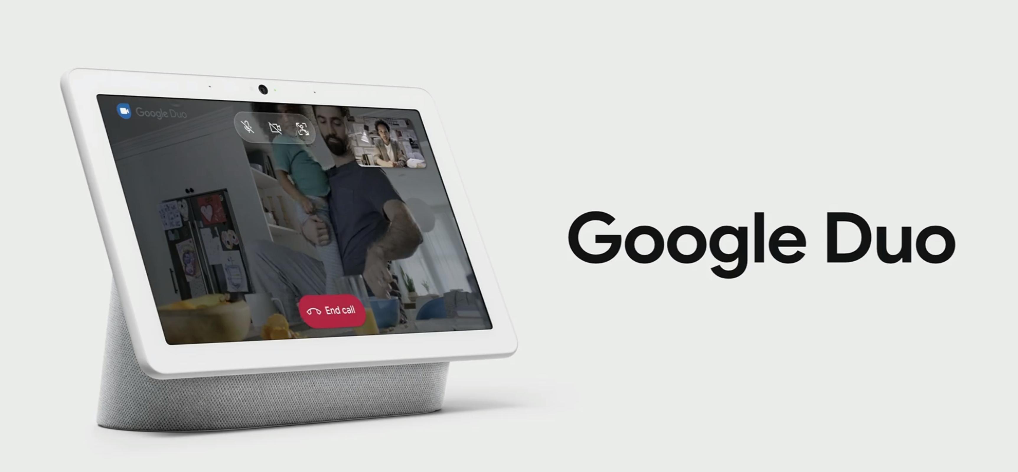 Du kan gjøre videosamtaler med Hub Max.