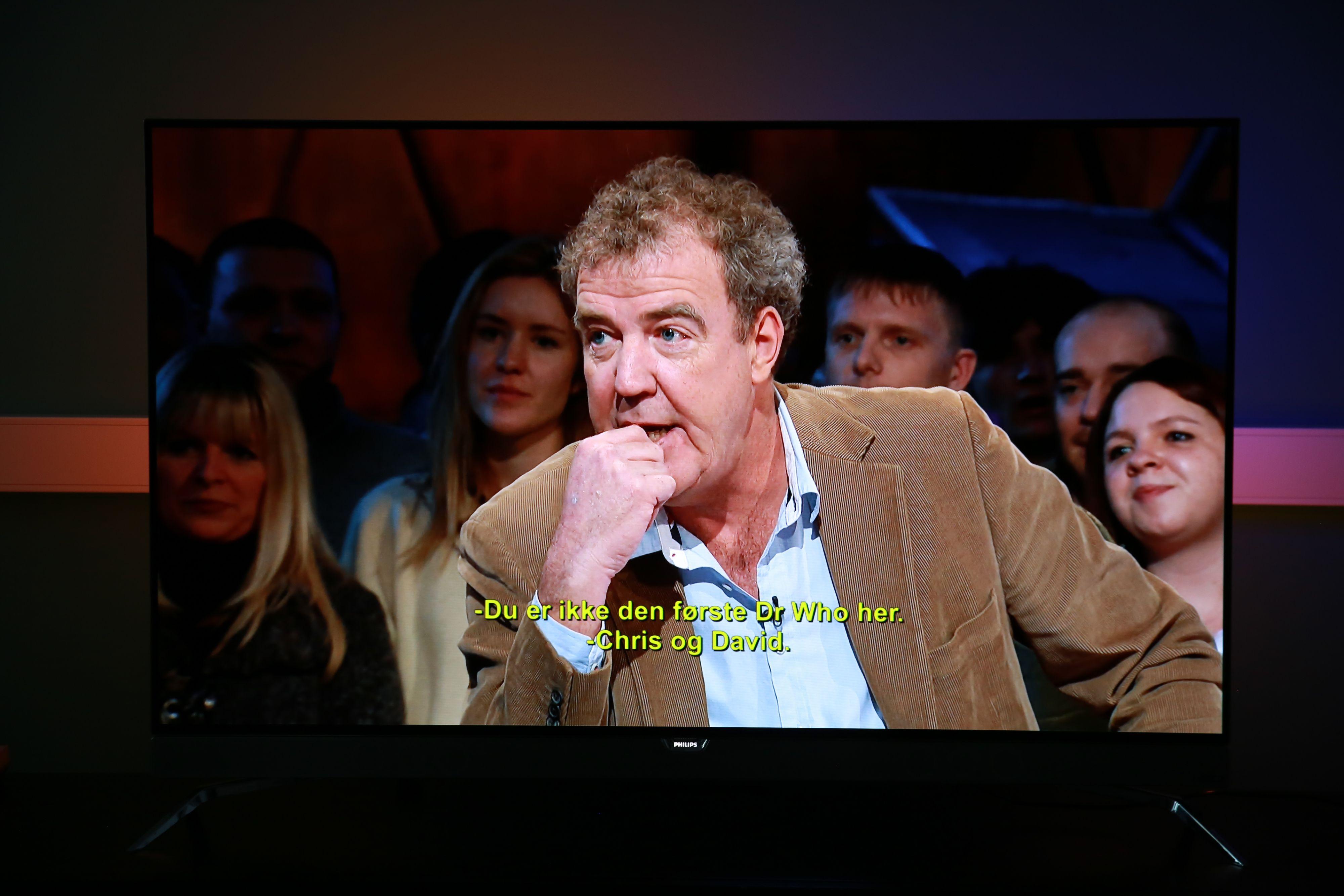 Clarkson ser skarp ut på Philips POS901F.