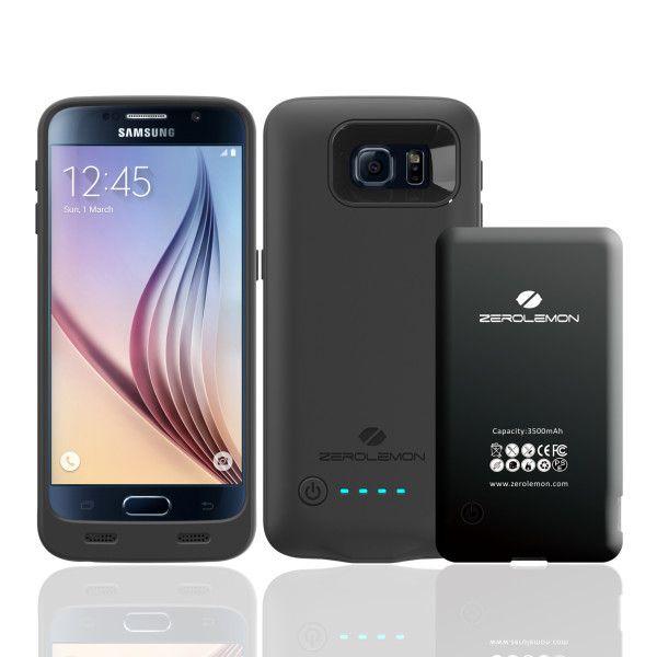 Batteridekselet til Samsung Galaxy S6 Edge (eller S6) har utbyttbart batteri, et stort pluss. Foto: ZeroLemon
