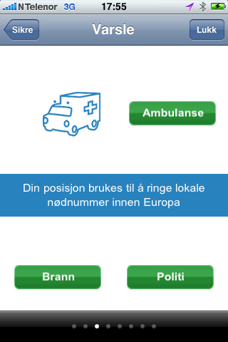 Alltid riktig nødnummer - i hele Europa.